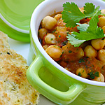 Chole, chickpea curry